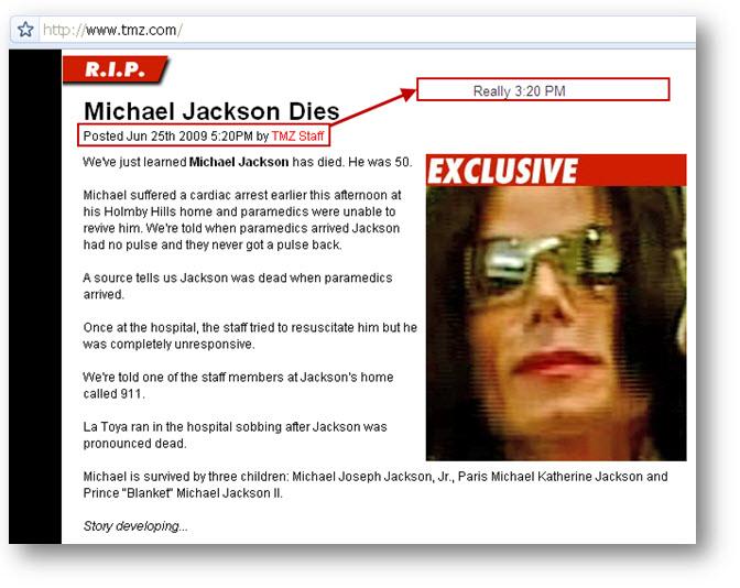 michael jackson dead tmz